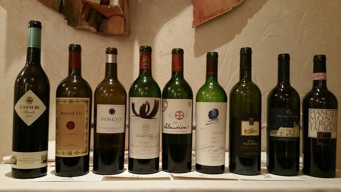 Nove vini rossi del 2007 per un compleanno