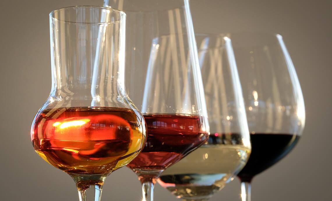 Tipologie di Bicchieri da Vino Rosso, Bianco e Spumante
