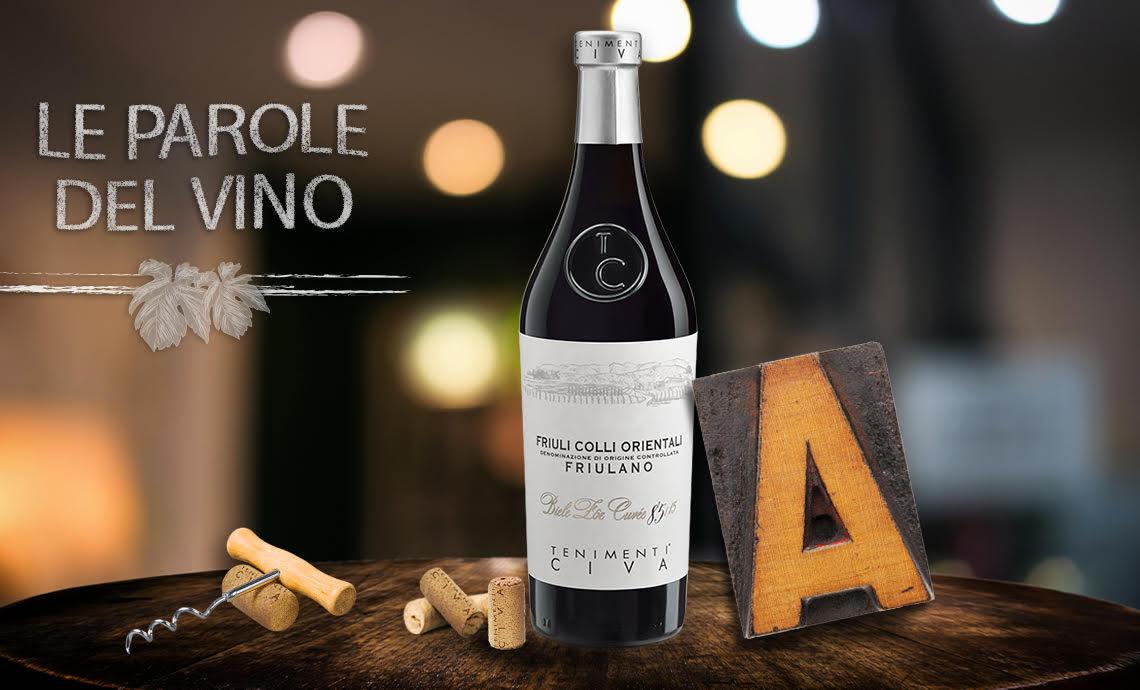 Le parole del vino con la A