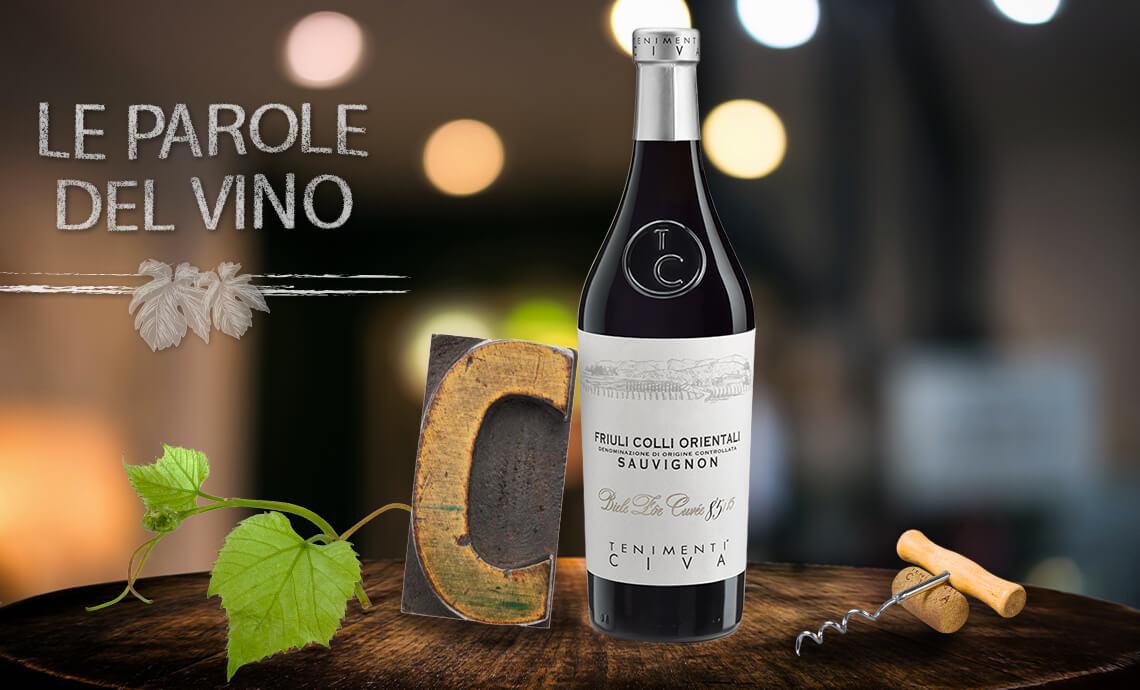 Le parole del vino con la C