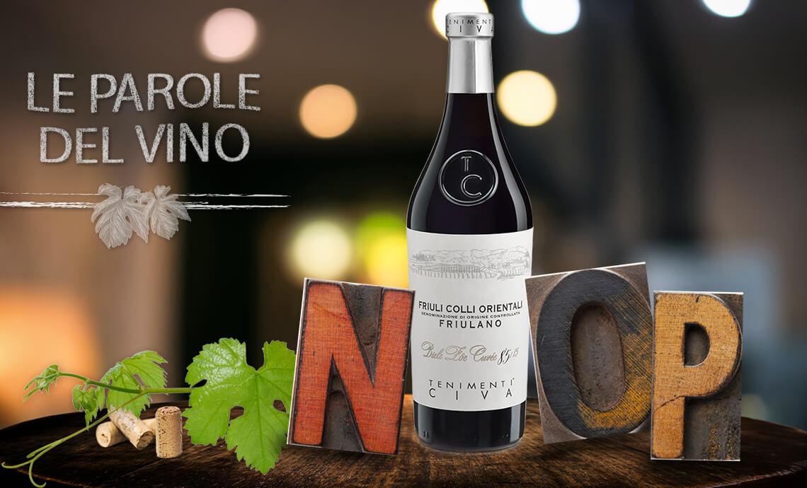 Le parole del vino con la N, la O e la P