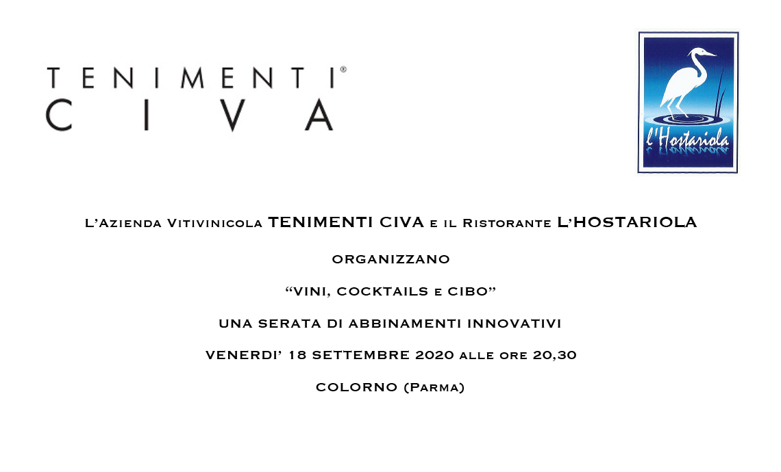 Wines, Cocktails and Food: an evening of innovative combinations with Tenimenti Civa